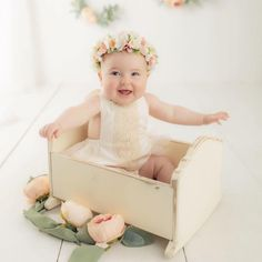 Another Monday, another sweet photo! Thank you for sharing these darling photos! She couldn't be any sweeter! Photo by… First Birthday Outfits, Flower Crowns, First Birthdays, Sweet, Photos, Instagram, Candy, First Anniversary, Floral Crown