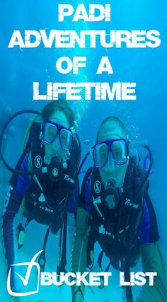 Bucket list check! Getting PADI certified to scuba dive! Now 65 dives in and some of the best dive sites in the world dove it's something we cant stop doing. Every time in the water it just fuels us for the next time! Explore the underwater world today and Get PADI certified! See some of our dive's at http://www.divergenttravelers.com/category/adventure-travel/underwater/