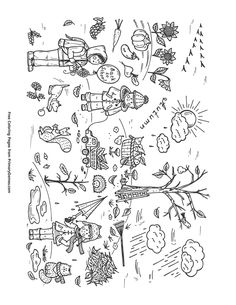 Fall Coloring Page Scene PagesFree PrintableScene Free Printable Pages For Use In Your Classroom Or Home