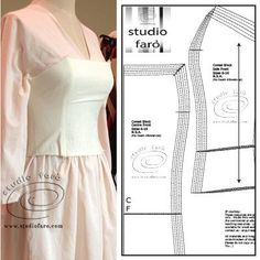 Cut and make your own Corsets using My Blocks - PDF | Studio Faro  #CorsetBlock #well-suitedblog #patternmaking