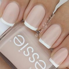 french tips - classic, but the more opaque pink gives it a subtle twist.