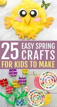 25 Easy Spring Crafts For Kids To Make 25 Best easy spring crafts for kids to make: simple spring crafts for toddlers & spring crafts for preschool kids. From quick & easy easter crafts for kids to spring crafts for kids art projects in the classroom, educational spring crafts for kids and spring crafts for fine motor skills. These homemade Easter crafts for kids ideas are creative & super fun. DIY spring crafts for kids outdoor, elementary spring crafts for kids. #springcrafts… Spring Toddler Crafts, Easter Crafts For Toddlers, Easy Toddler Crafts, Crafts For Kids To Make, Easter Crafts For Kids, Preschool Crafts, Art For Kids, Fun Crafts, Kids Outdoor Crafts