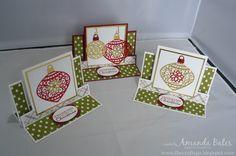 The Craft Spa - Stampin' Up! UK independent demonstrator : Embellished Ornaments Centre Step Easel Card