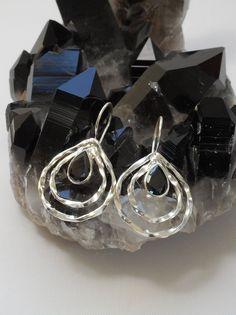 Fancy Black Onyx Sterling Silver Overlay 25 Grams Earring 3 Long Designer Jewelry