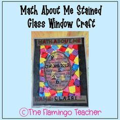 Get to know your students better at the beginning of the year with this beautiful stained glass tissue paper math craft!