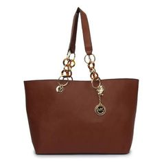 Michael Kors Ring Logo Large Coffee Totes