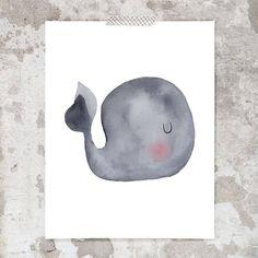 Whale Nursery, Animal Nursery, Nursery Art, Baby Whale, Watercolor Print, Watercolor Paintings, Wreath Drawing, Op Art, Art Sketchbook