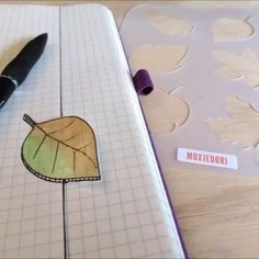 Quick, fun way to add some artistic flair to you bullet journal. Art lessons not required. Get your bujo stencils over here. #bulletjournal #moxiedori December Bullet Journal, Bullet Journal Spread, Planner Supplies, Weekly Spread, Journal Art, Bullet Journal Inspiration, Bujo, Art Lessons, Journaling