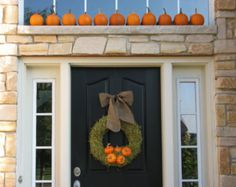 autumn door decorations | Autumn Wreath - The Pumpkin Patch - Personalized Fall Front Door Decor ...