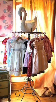 vintage clothing rack!