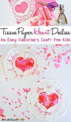 Paper doilies always peek my interest when they start showing up in the stores around Valentine's Day but I am never sure what to do with them. Their lacy edges always seem so perfect for Valentine's Day Crafting so this year I bought some and let the kids figure out what to do with them. They …
