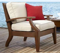 Chesapeake Armchair & Cushion | Pottery Barn