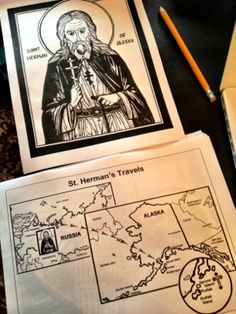 Yesterday afternoon, the boys and I put together a couple of new binders. Saints of North America and Saints in Times of Trouble are two wonderful pdf's available for free from the OCA Depart… Preschool Bible Activities, Religion Activities, Sunday School Activities, Youth Activities, Sunday School Crafts, Therapy Activities, Catholic Crafts, Catholic Kids, Kids Church