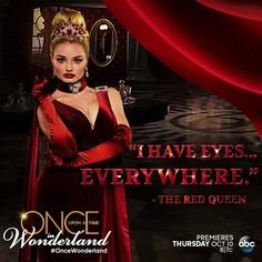 Absolutely love the Red Queen! #Anastasia, #ouatiw, Once Upon A Time in Wonderland