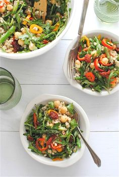 Vegetarian Barley Toss | Bev Cooks i think i would use quinoa or cous cous