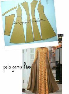 Frock Patterns, Skirt Patterns Sewing, Sewing Clothes Women, Clothes For Women, Abaya Pattern, Muslim Dress, Anarkali Dress, Kurtis, Cute Fashion