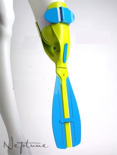 It's a swimming prosthetic for leg amputees!