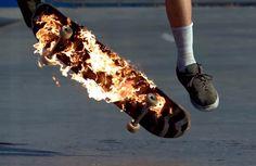You Know I Love Fire: Flaming Skateboard Skateboard Images, Skateboard Design, Skateboard Art, Leo Valdez, Skate Surf, Skater Girls, Skater Kid, Longboarding, Heroes Of Olympus