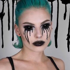 looking stunning and spooky in turquoise - try our Neptune Pack for your perfect teal shade! Dyed Hair Blue, Teal Hair, Devil Makeup, Zombie Makeup, Glamour Makeup, Turquoise Hair, Gloomy Day, Halloween Makeup Looks, Nyx Cosmetics
