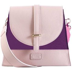 TTWINN London - Jennifer Shoulder Bag in Indigo Purple (£230) ❤ liked on Polyvore featuring bags, handbags, shoulder bags, shoulder hand bags, pink crossbody, purple purse, pink crossbody purse and pink handbags