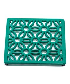 Another great find on #zulily! Emerald Green Square Floral Trivet #zulilyfinds