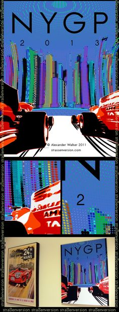 concept poster for the 2013 grand prix of america