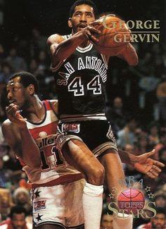 RARE 96/97 TOPPS NBA STARS GEORGE GERVIN SAN ANTONIO SPURS MINT