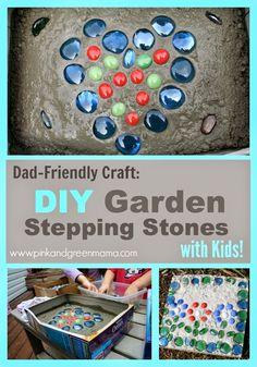 Dad Friendly Craft: Make Garden Stepping Stones With Kids!