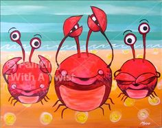 No evil crabs @ painting with a twist This one would be perfect for my mom and 2 aunts ;) lol