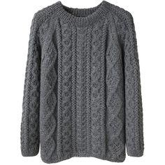 La Garçonne Moderne Alpaca Handknit Sweater found on Polyvore