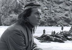 Pierre Brice on set Winnetou