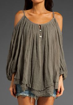 JEN'S PIRATE BOOTY Gauze Bowie Blouse in Military at Revolve Clothing - Free Shipping!