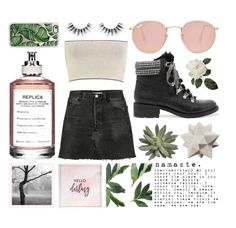 """""""Looking for a Star"""" by lexi-fashion ❤ liked on Polyvore featuring Calvin Klein Collection, Moe's, RE/DONE, Sam Edelman, Ray-Ban, Maison Margiela, Velour Lashes, Casetify, Hello Darling and nice"""