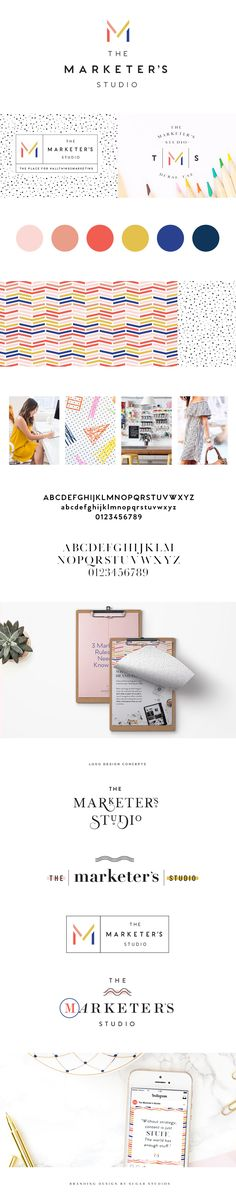 The Marketer's Studio | Branding Design | Branding Inspiration | Colorful Logo Example | Branding Design Examples | Brand Design Inspiration | Brand Board Inspiration | Modern Branding Design | Modern Logo Design | www.sugarstudiosdesign.com