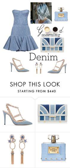"""Denim"" by siurelys-1 ❤ liked on Polyvore featuring Balmain, Valentino, Aperlaï, Lulu*s, Selim Mouzannar, Versace and Denimondenim"