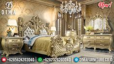Majestic Room Tempat Tidur Mewah Ukiran Jepara New Luxury Classic Style TTJ-0953
