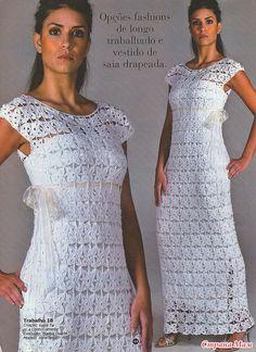 Белое платье мотивами Способы соединения мотивов в последнем ряду http://tamica.ru/page/sposoby-soedinenija-motivov-v-poslednem-rjadu