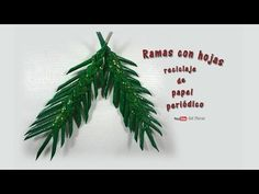 Ramas con hojas, reciclaje de papel periódico - Branches with leaves, recycling of newspaper - YouTube