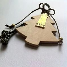 Handmade wooden Christmas Tree Christmas charm By KIKOmania 10€ Γούρι