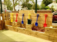 Loving this idea, Children love digging and transporting things. By Sherwood Sherwood Jardine Canvas EYFS Preschool Playground, Preschool Garden, Sensory Garden, Backyard Playground, Playground Ideas, Outdoor Learning Spaces, Kids Outdoor Play, Outdoor Play Areas, Outdoor Fun