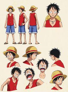 Character design: Monkey D Luffy