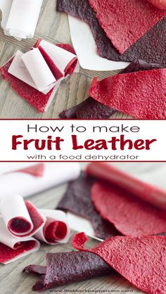 How to Make Fruit Leather with a Food Dehydrator Homemade roll-ups. How to Make Fruit Leather with a Food Dehydrator Homemade roll-ups. Strawberry Fruit Leather, Blueberry Fruit Leather Recipe, Dehydrated Strawberries, Homemade Fruit Leather, Homemade Rolls, Fruit Roll Ups Homemade, Fruit Snacks Homemade, Snacks Saludables, Canning Recipes