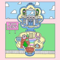 nippashichanはInstagramを利用しています:「🏡👼 #pollypocket #house #nineties #90s #toystory #illustration #drawing #graphic #design #illustrator #digitaldrawing #art #comics…」 Polly Pocket, Illustration, Tokyo, Japanese, Drawing, Comics, Sweet, Instagram, Candy