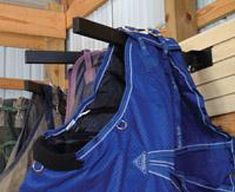 Tack Room Storage by TackRacks Plus Horse Shed, Horse Camp, Horse Gear, Horse Barns, Horses, Blanket Rack, Blanket Storage, Saddle Blanket, Horse Tack Rooms