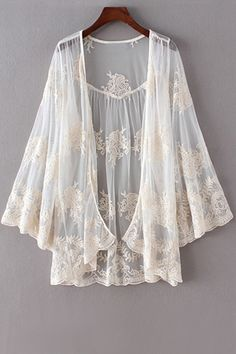Open Front Crochet Lace Blouse                                                                                                                                                     More