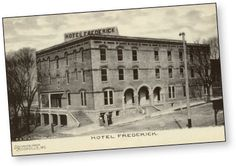 Historical Hotel Frederick Boonville Mo My Town Old Pictures Missouri Postcards
