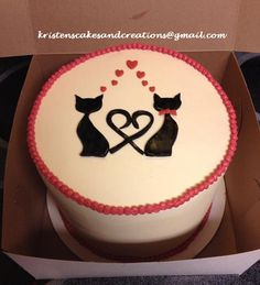 Cats in Love - Bridal Shower Cake