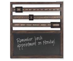 Brown Wood Calendar Slide Chalkboard at Big Lots. Rustic Office Decor, Wall File, Picture Frame Crafts, Big Lots Store, Chalkboard Designs, Whitewash Wood, Letter Wall, Diy Wood Projects, Brown Wood