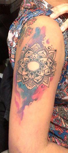 Tatuaje Mandala Water Color