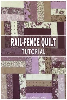 These rail fence block, quilts look lovely when they are finished. And they are super easy to make. You can use a jelly roll or cut your own fabric. Great quilt block for your quilt block collection. Quilting For Beginners, Quilting Tips, Quilting Tutorials, Quilting Projects, Jelly Roll Quilt Patterns, Quilt Patterns Free, Jellyroll Quilts, Easy Quilts, Quilting Templates